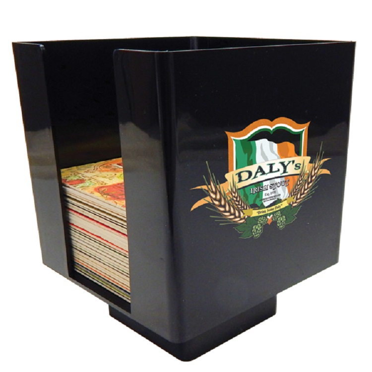 Plastic Coaster Caddy - Black